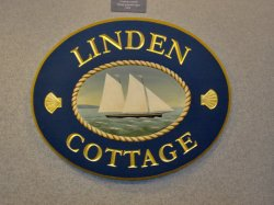 Linden cottage sign
