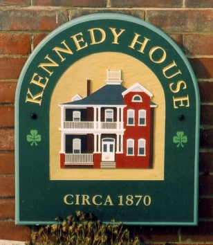 Kennedy house sign