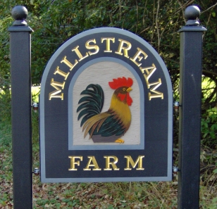 Millstream farm sign