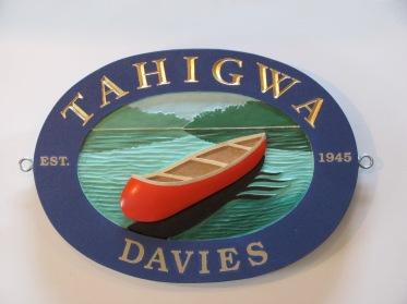 tahigwa cottage sign